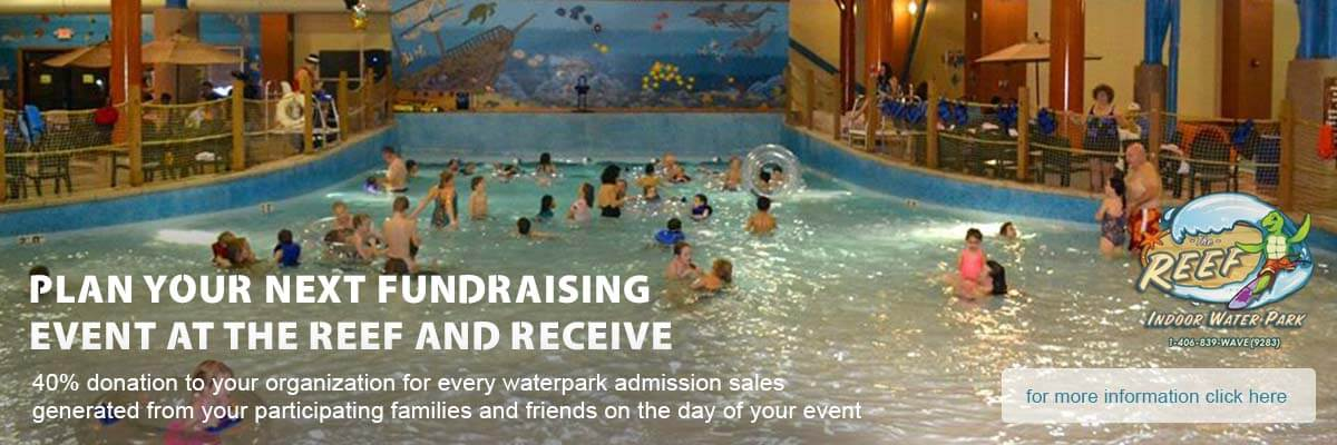water slides fundraising event