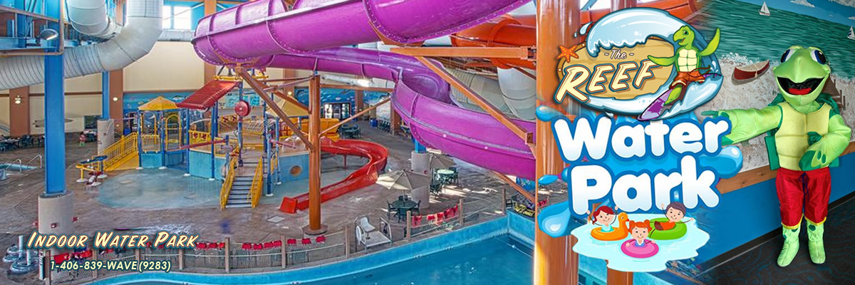 The Reef Indoor Water Park The largest indoor water park in the